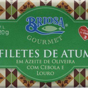 Filetes de Atum em Azeite com Cebola e Louro 120g Briosa Gourmet foto_topo