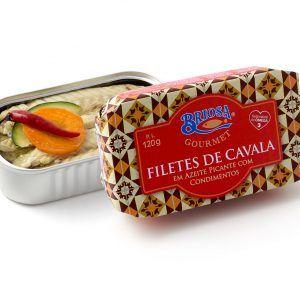 Filetes de Cavala em Azeite Picante com Condimentos 120g Briosa Gourmet